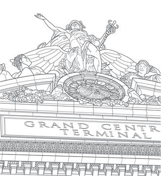 grand central drawing