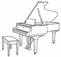 steinway piano drawing